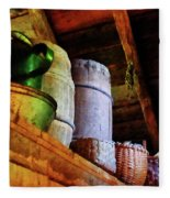 Baskets And Barrels In Attic Fleece Blanket