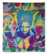 Basquiat Fleece Blanket