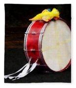 Bass Drum At Parade Fleece Blanket