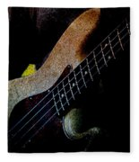 Bass Guitar Fleece Blanket