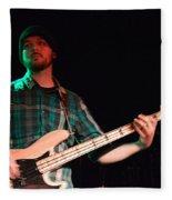 Bass Guitar Musician Fleece Blanket