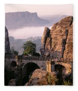 Bastei, Saxonian Switzerland National Fleece Blanket