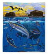 Bat Island Off00139 Fleece Blanket