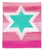 Bat Mitzvah Thank You Card Fleece Blanket