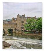 Bath On River Avon 8482 Fleece Blanket