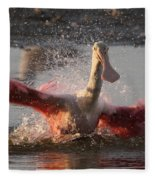 Bath Time - Roseate Spoonbill Fleece Blanket