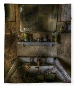 Bathroom Sink Fleece Blanket