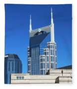 Batman Building And Nashville Skyline Fleece Blanket