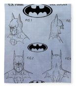 Batman Mask Patent Fleece Blanket