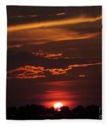 Baton Rouge Sizzling Sunday Sunset  Fleece Blanket