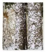 Battered By Winter Blizzard Fleece Blanket