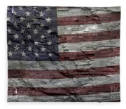Battered Old Glory Fleece Blanket