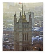 Battersea Power Station And Victoria Tower London Fleece Blanket
