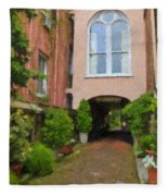 Battery Carriage House Inn Alley Fleece Blanket