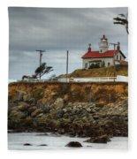 Battery Point Lighthouse 1 B Fleece Blanket
