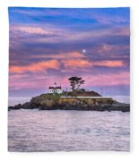 Battery Point Lighthouse And Moon Fleece Blanket