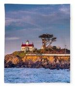 Battery Point Lighthouse Morning Fleece Blanket