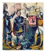 Battle Of Bosworth, Henry Vii Crowning Fleece Blanket