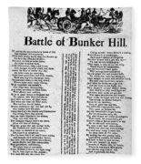 Battle Of Bunker Hill Fleece Blanket