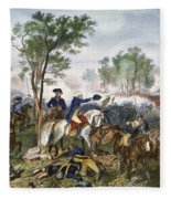 Battle Of Eutaw Springs Fleece Blanket