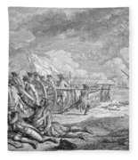 Battle Of Lexington, April 19th 1775, From Recueil Destampes By Nicholas Ponce, Engraved Fleece Blanket
