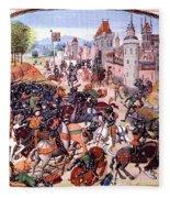 Battle Of Nevilles Cross 1346 Fleece Blanket