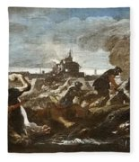 Battle Of Saint-quentin Fleece Blanket