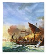 Battle Of Salamis Fleece Blanket