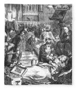 Battle Of Sedan, 1870 Fleece Blanket