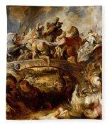 Battle Of The Amazons Fleece Blanket