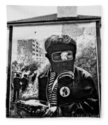 Battle Of The Bogside Mural II Fleece Blanket