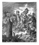 Battle Of The Camel, 656 Fleece Blanket