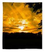 Battle Of The Clouds Fleece Blanket