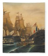 Battle Of Trafalgar Fleece Blanket