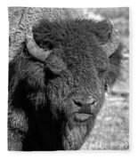 Battle Worn Bull Fleece Blanket