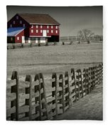 Battlefield Barn Fleece Blanket
