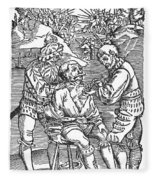 Battlefield Surgeon, 1540 Fleece Blanket