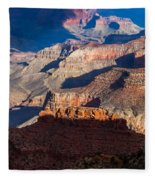Battleship Rock At The Grand Canyon Fleece Blanket