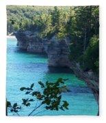 Battleship Row Pictured Rocks National Lakeshore Fleece Blanket