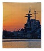Battleship Sunset Fleece Blanket