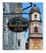 Bavarian Bakery Sign  Fleece Blanket