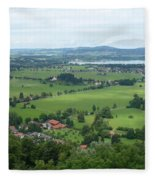 Bavarian Green Valley Fleece Blanket