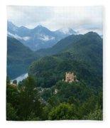 Bavarian Lake With Castle Fleece Blanket