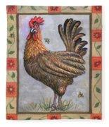 Baxter The Rooster Fleece Blanket