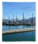 Bay In Seward Alaska Fleece Blanket