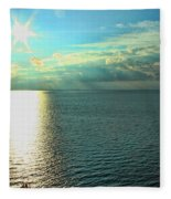 Bay Of Green Bay Wi Fleece Blanket