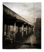 Bay View Bridge Fleece Blanket