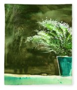 Bay Window Plant Fleece Blanket