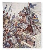Bayard Defends The Bridge, Illustration Fleece Blanket