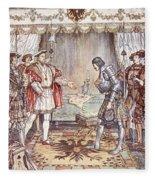 Bayard Presented To Henry Viii Fleece Blanket